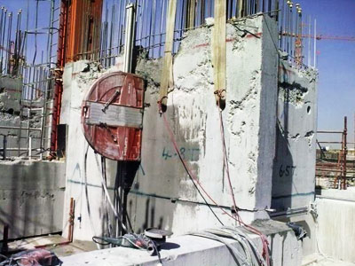 Concrete Demolition controlled cutting and lifting out